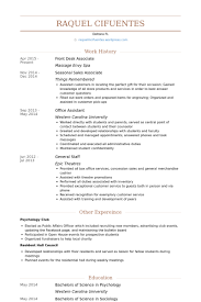 Front Desk Resume Inspiration 3711 Front Desk Associate Resume Samples VisualCV Resume Samples Database