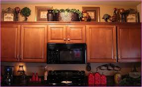 Above Kitchen Cabinet Decorations Simple Decoration