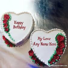 happy birthday cakes with love. Interesting With Cake Birthday Images For Lover With Name And Photo On Happy Cakes Love