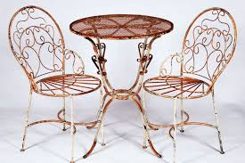 Iron Table And Chairs Set Wrought Iron Bistro Table 2 Chairs Set
