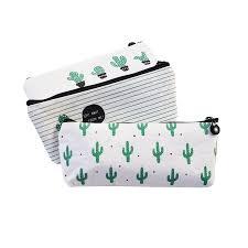 <b>10 Pcs</b>/<b>lot</b> Cactus Pencil Case Canvas <b>School</b> Supplies Kawaii ...