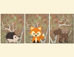 Moose Kitchen Decor Woodland Nursery Art Kids Wall Art Baby Boy Nursery Decor Forest