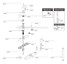 moen 7423 parts list and diagram ereplacementparts pertaining to moen kitchen sink faucets
