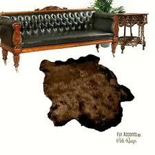 details about brown faux fur buffalo skin area rug plains indian buffalo 6 fur accents usa