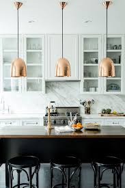 kitchen pendant lighting brass industrial modern decor ideas marble backsplash white kitchen better decorating blog