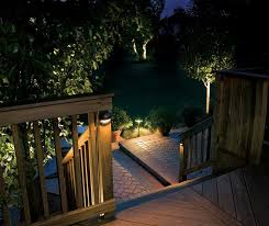 image of stair low voltage led landscape lighting