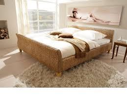 Ehebett Bett 180x200 Wasserhyazinthe Rattanbett Schlafzimmer Möbel