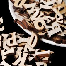 100pcs wooden letters alphabet embellishments sbooking cardmaking craft gift