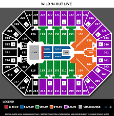 Minnesota Wild Seating Chart View Nick Cannon Presents Wild N Out Live Target Center