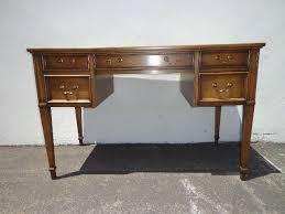 sligh lowery leather top writing desk vintage regency mid century regarding inspirations 11