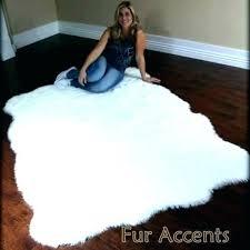 big sheepskin rug faux for
