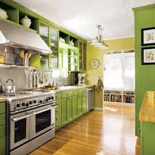 lime green cabinets. Plain Green Lime Green Cabinets Stainless Steel Appliances Display Maple  Floor Butcher Block Wood Countertops On Green Cabinets