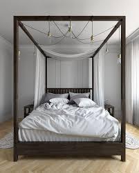Black Wood Canopy Bed Black Wood Canopy Bed Frame