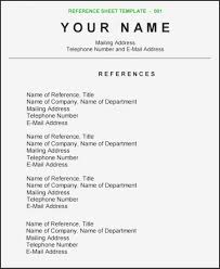 Reference Samples For Resume References For Resume Page 11