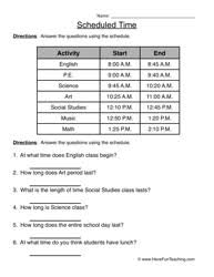 Telling Time Worksheets - Have Fun TeachingScheduled Time – Telling Time Worksheet 4