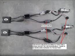sledstart snowmobile hid lights this patch cable ballast update will allow you to remove the existing wire harness that runs to your battery in your sledstart hid kit