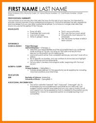 9 Example Of Job Resume Mla Cover Page