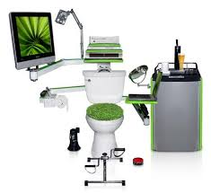 bathroom office. The Cubicle May Have Come Into Its Own Via Office Space And Other Iconic Movies, But Few Use Their Bathroom As An Office. Accountant Claimed He Did E