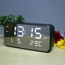 Small Bedroom Alarm Clocks Bedroom Alarm Large Led Display Digital Music Alarm  Clock Silent Bedroom Alarm Clock With Music Black Bedroom Alarm Alarm Clock  ...