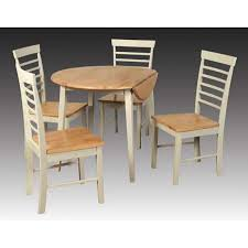 berlin round drop leaf dining table set 4 chairs