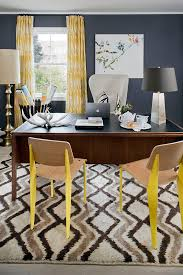 eclectic home office alison. Pattern Plays A Role In This Home Office Décor Eclectic Alison T