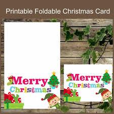 Christmas Printable Card Foldable Christmas Card Instant Download Christmas Greeting Card Elf Christmas Card Greeting Card