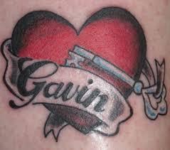 Tetování Srdce S Jménem