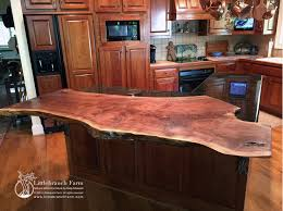 live edge wood countertop overlay wood slab countertop