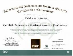 official cv hu certified information systems security professional cissp certification