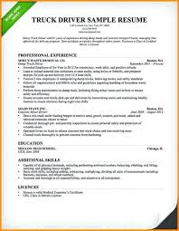 Truck Driver Objective For Resume Truck Drivers Resume Truck Driver Resume Example Alternative Truck 53