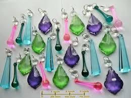 chandelier drops chandelier drops summer colour light cut glass crystals prisms droplets hanging pendants beads 4 chandelier drops rock crystal