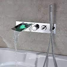 hand shower bathtub led waterfall faucet