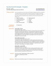 Security Guard Resume Security Guard Resume Format Fresh 100 Professional Security Guard 37