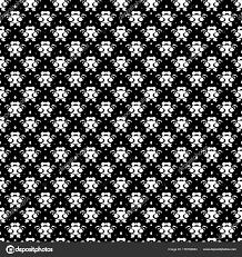 Abstracte Hand Getrokken Geschilderd Monochroom Naadloze Patroon