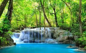 Erawan Waterfall Kanchanaburi Thailand ...
