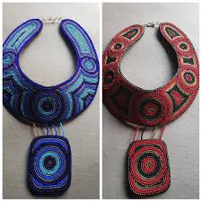 leather necklace with pendant african beaded necklace maasai necklace