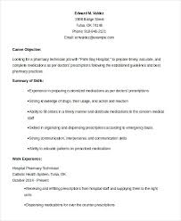 58 Recent Pharmacy Technician Resume Example Resume Template