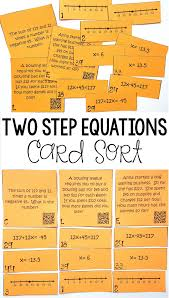 this was so much fun my 7th grade math students loved this two step equation