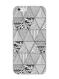 Designer Mobile Phone Covers India Monochrome Doodles Pattern Designer Mobile Phone Case