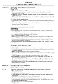 Respiratory Resume Registered Respiratory Therapist Resume Samples Velvet Jobs 1