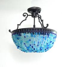 sea glass chandelier sea glass chandelier corbett lighting