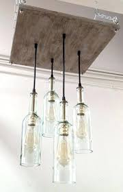 recycled wine bottle chandelier diy