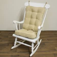 piece rocking chair cushion set cream color seat back nylon microfiber fabric fully reversible polyester fiber