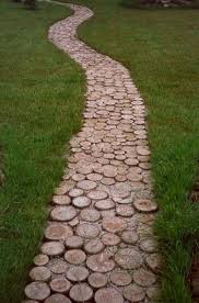 simple and affordable wooden garden path ideas 1
