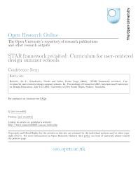 Star Framework Pdf Star Framework Revisited Curriculum For User Centered Design