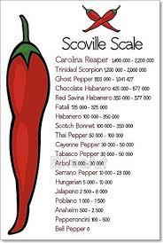 Amazon Com Barewalls Scoville Pepper Heat Scale Paper Print