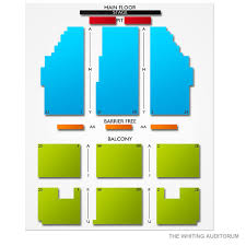 Seating Chart Whiting Auditorium The Whiting Auditorium 2019 Seating Chart