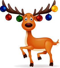 reindeer christmas clipart. Delighful Clipart Deer With Christmas Ball Illustration For Reindeer Clipart E