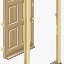 wooden door and door frame 13547047