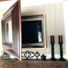 flat screen tv wall mount frames frame make your own by following tutorial